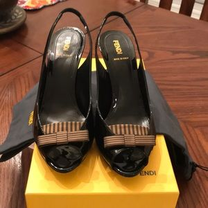 Fendi slingback pumps